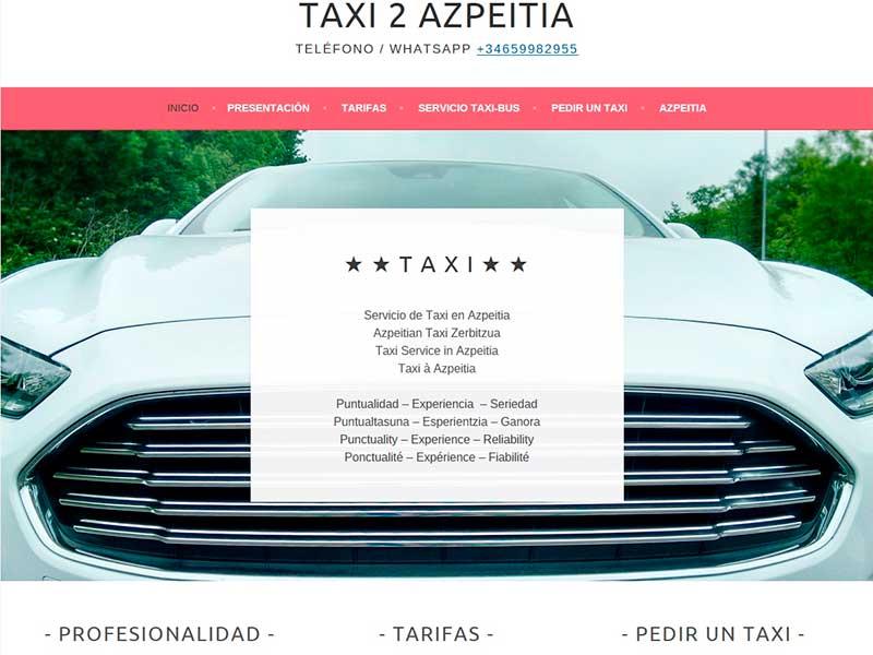 sitio web: taxi 2 azpeitia
