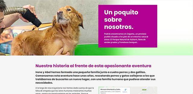 Servicios de higiene y peluquería para perros y gatos.