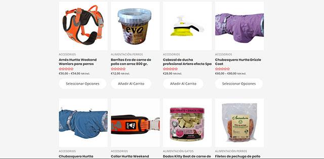 Tienda online de productos para perros y gatos.